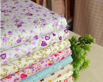 Shabby floral series cotton fabric bundle patchwork fabric bundle Quilted bundle doll's clothes fabric (11 pcs/set)