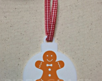 Christmas Ornament, Gingerbread Ornament, Personalized Christmas Ornament