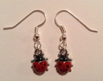 Handmade Ladybird Earrings