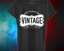 49th birthday gift, Aged to Perfection, VINTAGE, 1967, 49th birthday shirt, personalized shirts, birthday ideas, present, for him, for her