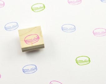 Macaron Stamp, Hand Carved Cookie Stamp