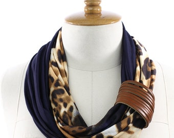 Leopard Scarf, Shawl, Circle scarf, Women's Fashion Accessories ,Scarf Gift -Gift Ideas ,Ideas For Her,Leopard Print Scarf