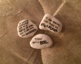 Shakespeare Insults Pebbles