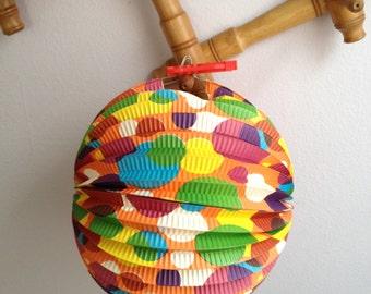 Party Lanterns Vintage Paper Lanterns Two Accordion Lantern Asian Party Lanterns Made in Japan Japanese Paper Lantern Vintage Paper Lanterns