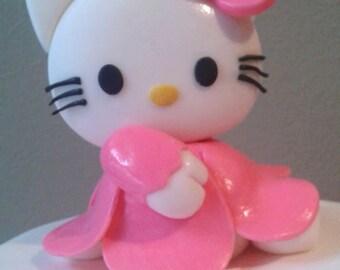 Hello Kitty Fondant Figurine Cake Topper , edible