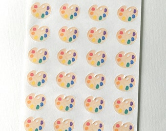 E12 art class paint palette artist paintbrush planner stickers for Paint planner