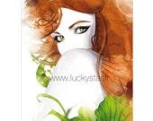 Poison Ivy / Illustration numérique / Cadeau original / Cadeau unique / Anniversaire / Art / Birthday / Noel / Decoration chambre / Affiche