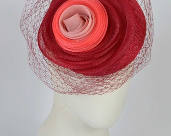 Flower Crin Pillbox Fascinator