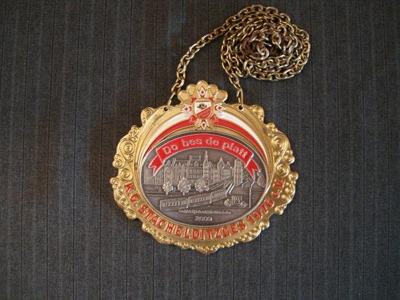 German Carnival Medal, Do bes de platt, K.G. Stachelditzges e.V. 1976 - 2009 [Vintage]
