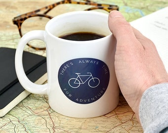 Always Time For An Adventure Mug -  Daddy Gifts - Father Gift - Father's Day Gift - Gift For Him - New Dad Gift - Men's Gifts [FDMUG-002]
