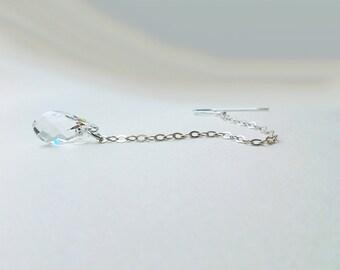Rose gold / gold / silver - Teardrop crystal earrings
