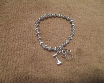 Dog lover's charm bracelet