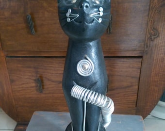 Wooden Cat Ornament