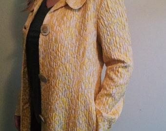 Yellow Brocade Coat