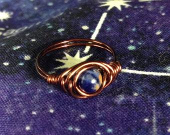 Handmade Little Blue Planet Rings
