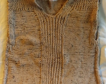 Brown speck pullover sweater