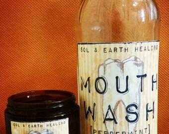 Organic Herbal Tooth Powder & Mouthwash SET