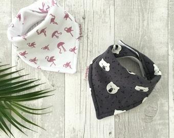 Bandana bib for baby, toddler, Choice of fabrics for coordinates leggings set, Matching bib and leggings set, Baby gift idea, New baby gift