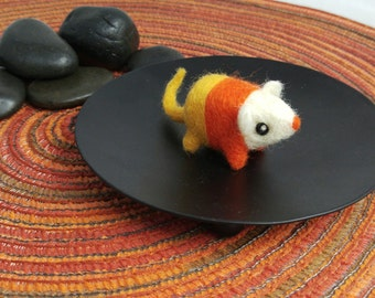 "Miniature Candy Corn Mouse Soft Art Toy Micro Sculpture ""EUCLID"""