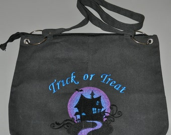 Halloween Candy Bag/Purse (Haunted House)