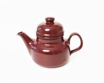 Brown Teapot, Brown Pottery Teapot, Large teapot