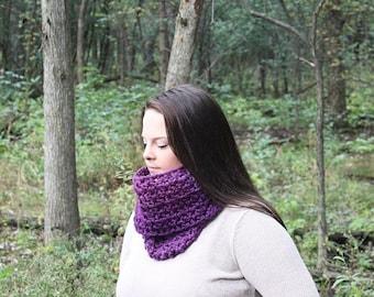 Purple Infinity Scarf, Purple Loop Scarf, Purple Scarf, Purple Chunky Scarf, Purple Crochet Scarf, Purple Scarves, Purple Scarf, THE ALBANY