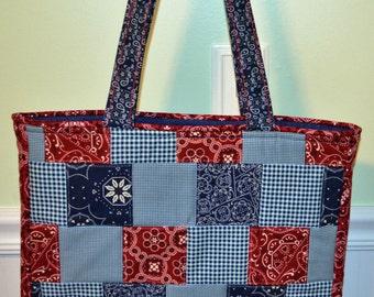Bandana Print Tote Bag