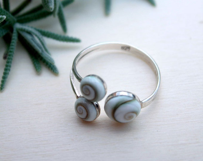 Shiva Eye Sterling Silver Ring