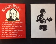 Rocky Balboa & Mighty Mick, Mini Painted Canvas Set