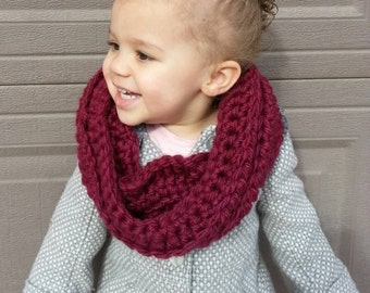 "Kid's Toddler Preschooler Crochet ""Braided"" Cowl Scarf"