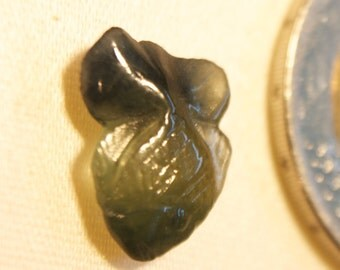 Carved Blue Green Sapphire Fish 2