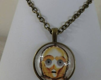 Necklace with C3PO