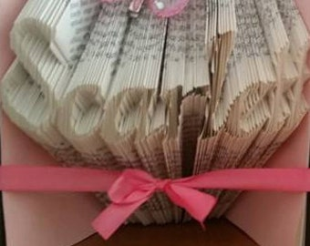 CUSTOM folded book art Upto 8 letters