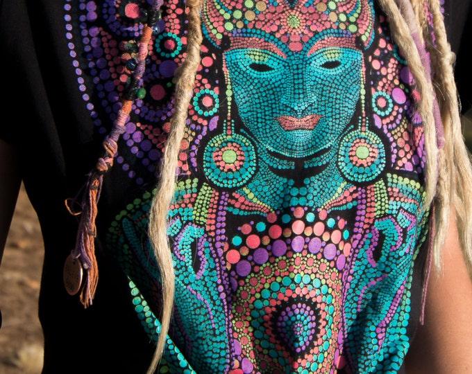 Buddha Ohm Shanti Tie Top Black