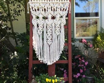 Garden Decor, Outdoor Decor, Garden Decorations, Garden Art, Outdoor Garden Decor, Outdoor Art, Macrame Wall Hanging