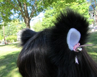 Any Color Fluffy Furry Cat Ears Wolf Cosplay Clip On Wearable