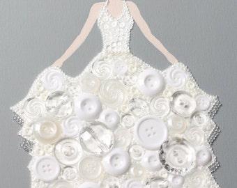 Button Princess in Winter White