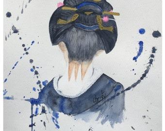 Geisha hair back. Remember the Japan