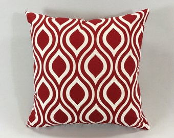 Red Throw Pillow Cover - Nicole Lipsitck - Decorative Throw Pillow Cover - Accent Pillow - Premier Prints - Hidden Zipper -Custom Sizes