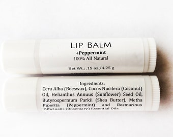 Natural Beeswax Lipbalm with Peppermint and Rosemary