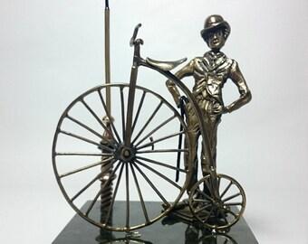 "Bronze statuette ""Chaplin""|art|gift for him|gift|unique gift|decor|gift for her|home|office|art object"