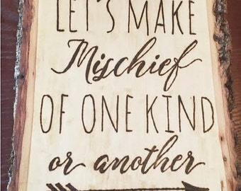 Lets Make Mischief of One Kind or Another - Inspired by Where the Wild Things Are