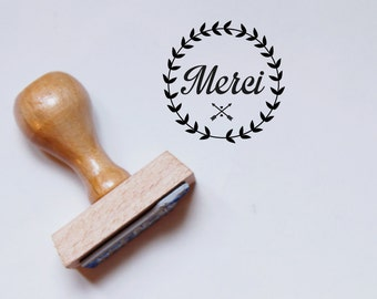 Thank You wood-made rubber stamp