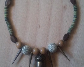 Green Acorn Necklace