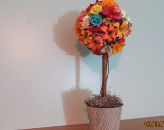 Floral Arrangement, Topiary Tree with Spring Flowers