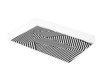 Acrylic Tray with Lines