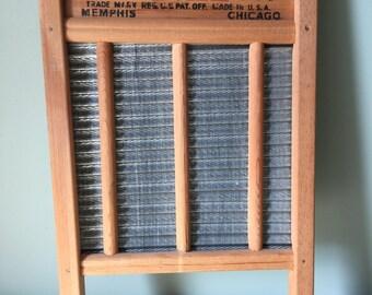 Vintage Washboard. National Washboard Co. No 701. Zinc Washboard.