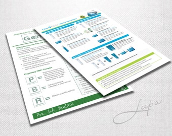 A5 Arbonne FC5 and Genius 3 day trial use instruction sheet – printable 2up A4 – Instant Download – DIGITAL FILE