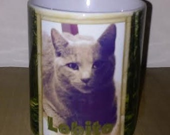11oz Beverage Mug/Personalized with beloved pet photo and name