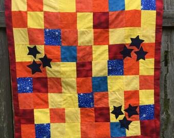 Patchwork Star Baby Blanket